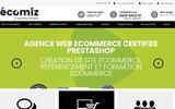 screenshot http://www.ecomiz.com Agence web certifiée prestashop