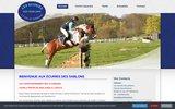 screenshot http://www.ecuriesdessablons.com/ les écuries des sablons, centre équestre de poneys en essonne 91