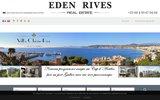 screenshot http://www.edenrives.fr agence immobiliere juan les pins