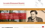 screenshot http://www.emmanuel-mounier.com association des amis d'emmanuel mounier
