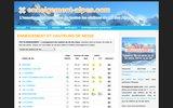 screenshot http://www.enneigement-alpes.com enneigement et hauteurs de neige des alpes