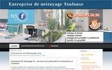 screenshot http://www.entreprisedenettoyagetoulouse.net entreprise de nettoyage Toulouse