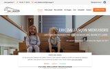 screenshot http://www.ericdallancon49.com fabrication d'escaliers en bois dans le Maine et Loire