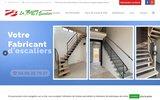 screenshot http://www.escalier-beton-sud-ouest.com pose d'escaliers en béton pour maison sur carcassonne, aude