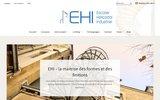 screenshot http://www.escalier-ehi.fr escalier hélicoïdal industriel ehi