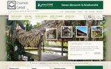 screenshot http://www.escapade-carbet.com/ guide sur l'hébergement hamac et le tourisme durable en guyane