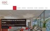 screenshot http://www.espace-g2c.com centre d'affaire lyon: location de bureaux, domiciliation entreprise lyon
