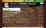 screenshot http://www.espace-pierres-folles.com un musée, un jardin botanique, un sentier géologique à st jean de vignes rhone beaujolais : l'espace pierre folle