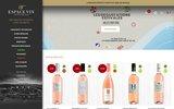 screenshot http://www.espace-vin.com vins du Languedoc à prix domaine
