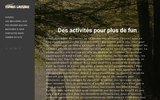screenshot http://www.espritsauvage.fr/ esprit sauvage : voyages de chasse à l'affût, en battues, grand et petit gibier.