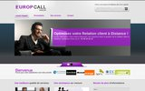 screenshot http://www.europcallcenter.com Externalisation relation client Maroc