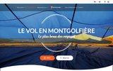 screenshot http://www.europeanballoon.be Vol en montgolfière et hélicoptère