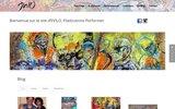 screenshot http://www.evilo.fr evilo, plasticienne-performeur / mimizan-landes