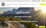 screenshot http://www.exterieur-nature.com Canyoning, rafting dans les Pyrénées Orientales et l'Aude