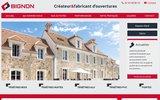 screenshot http://www.fenetres-bignon.fr/ fabricant de fenêtres bignon