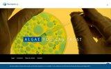 screenshot http://www.fermentalg.com micro algues aquitaine