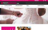 screenshot http://www.festimariage.com festi'mariage, le site du mariage et de la fete
