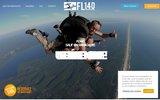 screenshot http://www.fl140-parachutisme.com venez vous essayer au parachutisme avec fl140