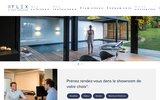screenshot http://www.flex1848.be Stores intérieurs et extérieurs et volets roulants