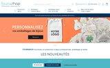 screenshot http://www.fournishop.com vente en ligne de présentoirs bijoux et emballages