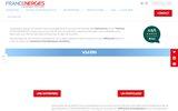 screenshot http://www.francenergies.fr spécialiste du solaire photovoltaique et thermique