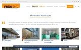 screenshot http://www.frisomat.fr/batiments-agricoles/ Frisomat