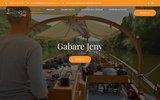 screenshot http://www.gabare-copeyre.com bateau sur le lot