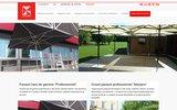 screenshot http://www.gaggio-france.net fabricant de parasols de jardin et parasols professionnels : pour forains, marchés excentrés, chauffants, géant