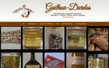 screenshot http://www.gailhou-durdos.fr Foie gras Gailhou Durdos, les conserves de l'Arros, confits, magrets.