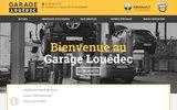 screenshot http://www.garage-louedec.fr garage renault fouesnant, claude louédec