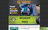 screenshot http://www.garagequebec.com garage quebec trouvez un garage, mécanicien auto,