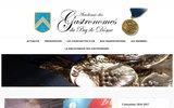 screenshot http://www.gastronomes63.com confrérie des gastronomes du puy-de-dôme