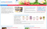 screenshot http://www.gateauauyaourt.com gateau au yaourt