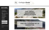 screenshot http://www.geologica-rando.com/ geologica rando: randonnée sud de la france