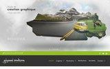 screenshot http://www.giannicodron.com agence publicité - communication angers - création