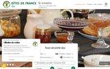 screenshot http://www.gites-de-france-orne.com/ chambre d'hôtes orne