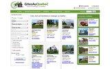 screenshot http://www.gitesauquebec.com gites québec