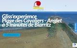 screenshot http://www.glissexperience.com/ école de surf