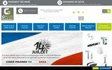 screenshot http://www.gplusdistribution.com/ linge de maison jetable