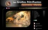 screenshot http://www.grottes-savonnieres.com/ les grottes pétrifiantes de savonnières