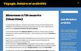 screenshot http://www.guideilemaurice.fr/ guide île maurice