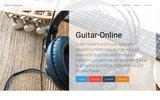 screenshot http://www.guitar-online.com guitare-online : cours et logiciels pour apprendre