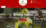screenshot http://www.harmony-paysages.com aménagement paysager en Indre et Loire 37
