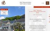 screenshot http://www.hdesbains.fr/ hôtel restaurant des bains à St-Jean Le Thomas en Baie de Mont St-Michel