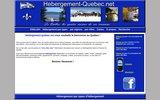 screenshot http://www.hebergement-quebec.net répertoire des hébergements au québec