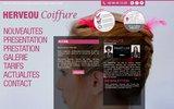 screenshot http://www.herveou-coiffure.com Salon de coiffure Hervéou coiffure à Brest, qui propose des lissages