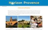 screenshot http://www.horizon-provence.com reportages et photos de provence