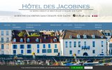 screenshot http://www.hotel-lesjacobines.com/ hôtel à chalon sur saône les jacobines, hotel