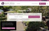 screenshot http://www.hotel-ste-cecile.be hôtel et séjours détente à sainte cécile