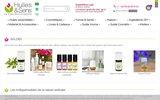 screenshot http://www.huiles-et-sens.com huile essentielle - aromathérapie